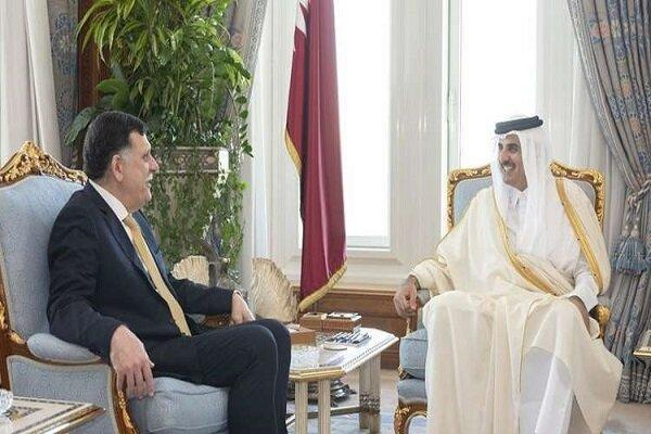 نظر امیر قطر درباره لیبی