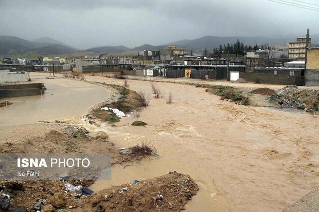 جزئیاتی از محو شدن روستای آبیدک بر اثر رانش زمین