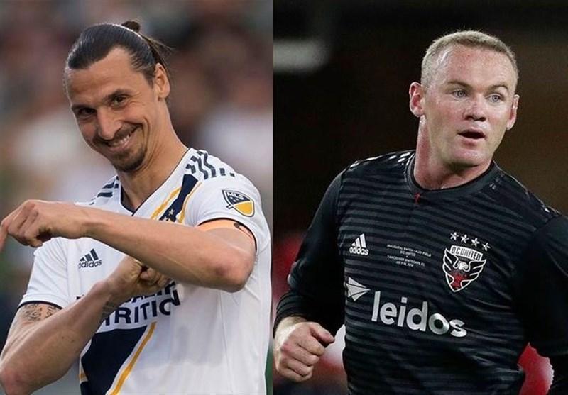 تقابل ستارگان MLS با اتلتیکومادرید، حضور رونی و زلاتان